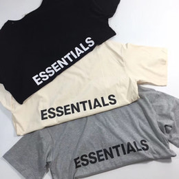 Wholesale t shirt printed logo - 2018ss Summer Best Quality Fear Of God New Collection Logo Printed Women Men T shirts tees Hiphop FOG Men Cotton T shirt