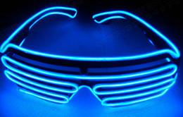 лучший фонарик фонарик Скидка 2018 новый светодиодный очки для мужчин и женщин сценическое представление EL провода из светодиодов свет очки карнавал фестиваль ну вечеринку аксессуары