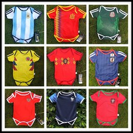 Wholesale full months - Baby Jersey For 6 To 18 Month Baby 2018 World Cup Shirt Argebtina Spain Mexico Colombia Belgian #10 MESSI Russia Kid Jersey 2018 Baby Shirts
