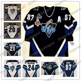 87 jersey Sconti Custom Rimouski Oceanic 2005 Memorial Cup Vintage Qualsiasi numero Nome di buona qualità Stitched Navy # 87 Sidney Crosby Hockey Jerseys