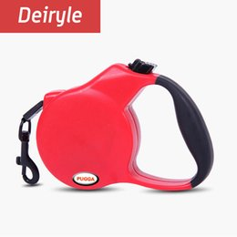 Wholesale Retractable Belt Dog Leash - High Quality Pet Retractable Automatic Dog Leash Walking Dog Leashes Traction Rope Belt For Small Medium Dogs 3M 5M