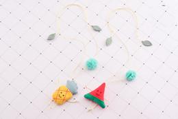 Corée Nouvelle Main Mignon Étoile De Bande Dessinée En Tissu Coloré Perles Enfants Enfants Colliers Fille Bijoux De Mode Accessoires HR-025 ? partir de fabricateur