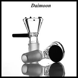 2019 snoop dogg vape penne Ciotola per manico nero e piccola ciotola in vetro a nido d'ape per tubi d'acqua Coppa in vetro 18mm 14mm maschio per bonger