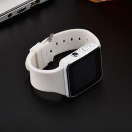 недорогой слот телефон Скидка Горячие X6 смарт-часы дешевые изогнутый экран смарт-часы браслет телефон с SIM TF слот для карты с камерой для Samsung LG Sony HuaWei XiaoMi OTH258