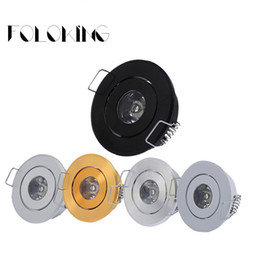 Wholesale Round Cabinet Knobs - 1W 3W MINI Round High Power LED Recessed Ceiling Down Light Lamps LED Downlights for Living Room Cabinet Bedroom