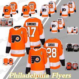 f5d1498eb Maglie Philadelphia Flyers 17 Wayne Simmonds 28 Claude Giroux 53 Shayne  Gostisbehere 93 Maglia Jakub Voracek giroux presa