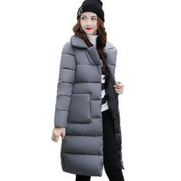 Зимние женщины в парке онлайн-Dow parka women down jacket winter coat winter parka cotton padded jacket Woman Coat 2017