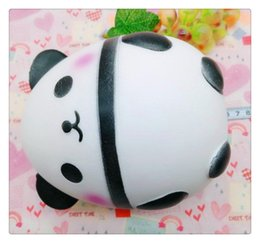 Wholesale apple eggs - 1pcs Panda eggs Squishy Jumbo Cute Panda Kawaii Cream Scented Kids Toys Doll Gift Fun Collection Stress Relief Toy Hop Props
