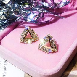 KOKO nouveau S925 argent aiguille triangle tempérament de cristal mode bijoux boucles d'oreilles élégantes rétro boucles d'oreilles féminines adaptées aux femmes wedd ? partir de fabricateur