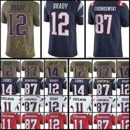 Wholesale Jersey Patriots - Men's New England jersey Patriots #12 Tom Brady 87 Rob Gronkowski 14 Brandin Cooks 11 Julian Edelman stitched jerseys Cheap wholesale