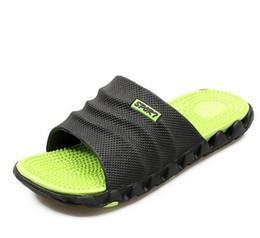 Wholesale Massage Acupoint - 2017 Summer Slippers Men Casual Sandals Leisure Soft Slides IVI Plastic Indoor Acupoint Massage Slippers for Men