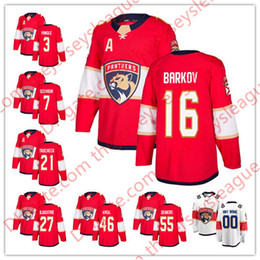 Florida Panthers 2018 New Brand Hot Sale  3 Keith Yandle 16 Aleksander  Barkov 21 Vincent Trocheck White Red Stitched Hockey Jersey S-60 78d18459f