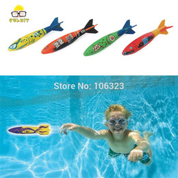 Wholesale Wooden Fishing Game - 4pcs set New Style Summer Water Game Toy, Children Swimming Pool Throwing Toys Fish, Glides under Water, Dive Swim Trolltech Fun