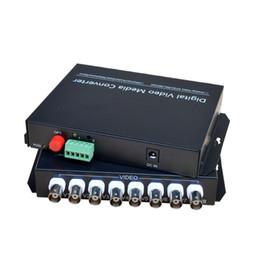 Receptor de transmissor de fibra óptica on-line-Transmissor / receptor de fibra óptica video dos meios de 8 Digitas da canaleta de Digitas para câmeras do CCTV do sistema de segurança
