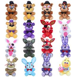"""Wholesale peluche toy - 10"""" Five Nights Freddy Stuffed Plush Toys FNAF Freddy Fazbear Bear Foxy Rabbit Bonnie Chica Peluche Juguetes"""