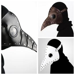2019 props del medico Maschera di peste maschera 3 colori lungo uccello bocca maschera trucco vestito maschere di partito di cosplay di halloween prop OOA5598 props del medico economici