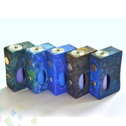 Madera de resina online-Original Aleader X-Drip Box Mod Resina y madera en forma 18650 Batería X Goteo Con 7ml Botella Squonk Para 510 atomizadores sin DHL