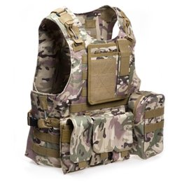 porte-vêtements tactique Promotion Chasse Vestes Date Style Amphibie Tactique Militaire Molle Gilet Combat Assaut Plaque Porte Gilet Chasse Protection Gilet 1B
