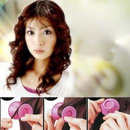 Encrespadores de borracha on-line-Magia de borracha macia modelador de cabelo diy rolos de cabelo ferramentas de estilo de cabelo de viagem uso doméstico ferramenta de maquiagem de beleza de silicone macio rosa curler