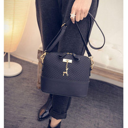 kawaii sacs à bandoulière Promotion Femmes épaule Messenger Bag Kawaii Mini sac avec des cerfs Petit embrayage Sac de téléphone filles Forme Shell en cuir Plaid Sacs à main