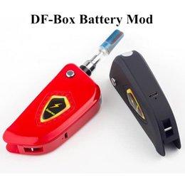 Autentico DF-Box Battery Box 650mah Buddy Torch Mini Box Tensioni regolabili Batteria di preriscaldamento 510 cartucce di alta qualità Vape DHL da