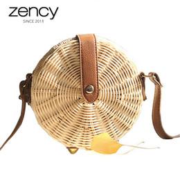 2018 Summer straw bag ladies knitting Rattan shoulder bags Circle Bohemia  Handbag Design beach holiday crossbody purse phone bag cfdec7cba7ba6