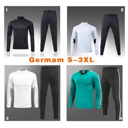 Wholesale Germany Suits - top thailand quanlity 2017 2018 germany soccer jerseys uniforms sportswear training suit 17 18 Germany loog sleeve soccer tracksuit S-3XL