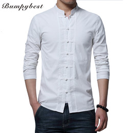 Canada Bumpybeast marque 2017 chaud manches longues Kung Fu Chemise Classique Style Chinois Tang Vêtements Taille M L XL XXL XXXL 4XL hombre Camisa supplier kung fu clothes Offre