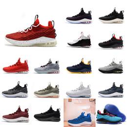 Hommes pas cher lebron 15 bas chaussures de basket-ball équipe Red Oreo  Signal Bleu Noir Blanc Wolf Gris Olive jeunes enfants baskets en plein air  tennis ... db8e33e6c