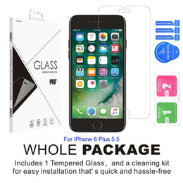 Wholesale Zte Grand X Screen - For IPhone 6 7 8 5.5 X Zte Sonata 2 Grand X3 X4 Tempered Glass Screen Protector With Retail Package