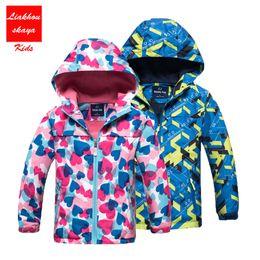 199c2ffc6e7b9 4-13 Years Kids Jackets Outerwear Spring autumn Girls Windbreaker Hoodies  Blazer Clothing Children Clothes Double-deck Coats