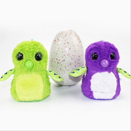Wholesale Plastic Egg Packaging - 2018 HOT Hallowee Christmas Gift Hatchimals Hatching Eggs Interactive Toys Spin Plush Animal for Baby Learning kids With Retail Package DHL