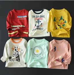 Wholesale Korean Children Clothing Brands - Boys and girls long-sleeved t-shirt spring and autumn new children children compassionate shirt Korean baby autumn clothes kids shoes baby