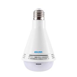 2019 dahua 2mp ip camera ESCAM QP137 WiFi IP Camera 360 Bulb Grau LED panorâmico Bluetooth Música 2MP Camera detecção de movimento Suporta alarme E-Mail