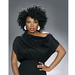Damen bob perücken online-neues ankommendes brasilianisches Haar afrikanisches Ameri Afro schwarze kurze Bob lockige Perücken Simulation Menschenhaar verworrene lockige Perücke mit Knall für Damen