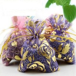 Wholesale Lavender Sachets Wholesale - 100 bags Wholesale Lavender Sachet Natural Aromatic For Living Room Car Drawer Car Office Bags Smell Sachet Free Shipping