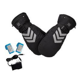 нейлоновые водонепроницаемые перчатки Скидка USB аккумуляторная рука теплая зима электрический тепловой лыжный снегоход перчатки батареи с подогревом перчатки Велоспорт мотоцикл перчатки C18111501