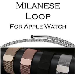 Reloj de metal online-Nueva venta Milanese Loop Band para Apple Watch 38 / 42mm Series 1/2/3 Correa de acero inoxidable Correa Reloj de pulsera de pulsera Reemplazo