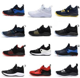 Wholesale white ps4 - 2018 New Arrival Paul George 2 Basketball Shoes for Hig quality PG2 PS4 Playstation Black BLue Red White PG 2s Sports Sneakers Size 40-46