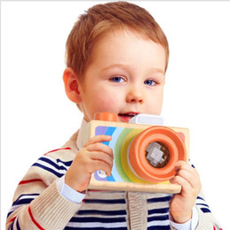 Wholesale Toy Kaleidoscopes Wholesale - Wooden Camera Toy Creative Simulation Cameras Kaleidoscope Toys For Children Birthday Gift Hot Sale 11yt C R