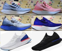 Wholesale running jumping - 2018 Epic React Instant Go Fly Breath Comfortable Sport jump shoes Mens Running Shoes Black Blue Women pink green casual Athletic Sneakers