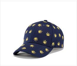 Wholesale Fire Maple - [WUKE]leaf Fire Baseball Caps Women Men Maple leaves Hip Hop hats Chapeu Gorras planas Casquette canvas snapback cap#ly