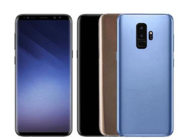 Wholesale Mobile Hot Videos - Hot Sale Goophone S9 plus Fingerprint 4g Lte Phone Quad Core 6.2 Inch 1920x1080 Screen 1GB RAM 16GB ROM Add 64G Memory card mobile phones