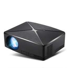 résolution vidéo Promotion Projecteur portable C80 1280x720 Résolution haute luminosité LED Vidéo Projecteur Pour Home Cinéma Soutien 1080P HDMI USB AV VGA Port