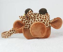 Wholesale Plush Camera - Giraffe Plush Camera Case for Fujifilm Polaroid Instax Mini 8 Cute Cartoon Cameral Bag with Shoulder Strap