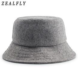 Autumn And Winter Skiing Keep Warm Woolen Fisherman Hat Men Hip Hop  Adjustable Solid Cap Women Wool Felt Bucket Hats 7beab0c2a323