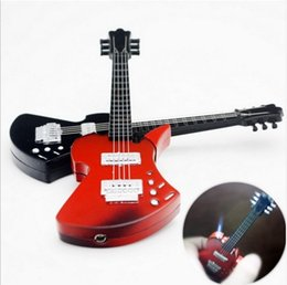 Wholesale Instrument Music - New Arrival Creative music guitar windproof lighter Guitar Lighter musical instrument lighter Gas lighters yanju personality