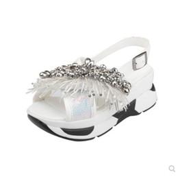 Canada Sandales d'été pour femme Boutique Augmentez le luxe Sequin Pearl Strass Perles design classique Cool marque de mode douce sexy sandales casual cheap cool sandals brand Offre