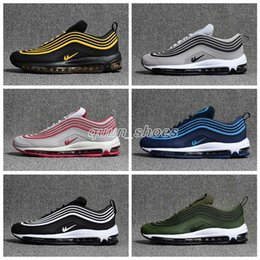 Wholesale Generation Green - NEW Men 3 Generation Low Air 97 Cushion Breathable Casual Shoes Cheap Massage Running Flat Sneakers Man 97 Sports Outdoor Shoes