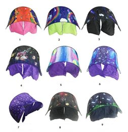 Wholesale Baby Folding Mosquito Net - 80*230cm Kids Dream Tents Folding Type Unicorn Moon White Clouds Cosmic Space Baby Mosquito Net toy tents Without Night Light 35pcs